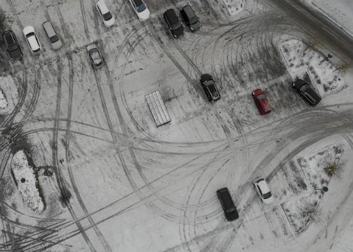 Parkeringsplatser, vinter.
