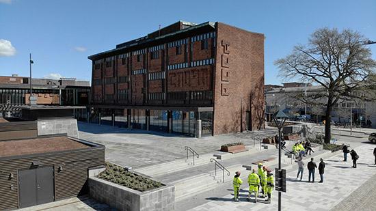 Kulturhustorget, Hertig Johans gata i Skövde