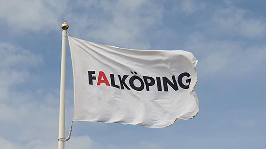 Falkoping kommuns flagga