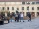 Gymnasieelever firar studenten, Hertig Johans torg Skövde