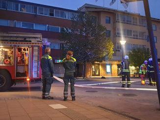 Brand vid Stora Torget Tibro