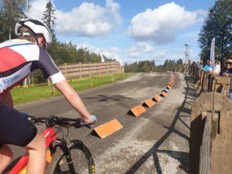 Cyklist på Billingen i Skövde