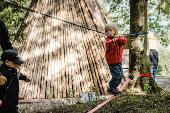 Skogsmulleriket på Billingen i Skövde