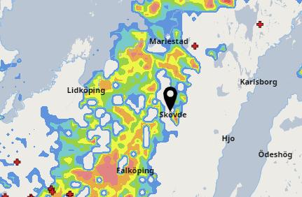 Åska i Skaraborg
