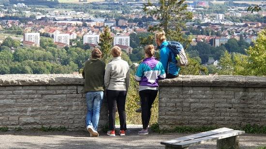 Utsikt över Skövde från Billingebergets utsiktsplats