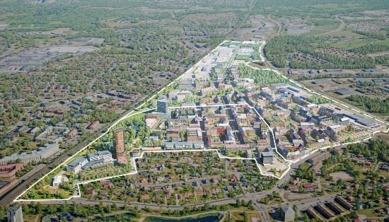 Skövdes nya stadsdel Mariesjö
