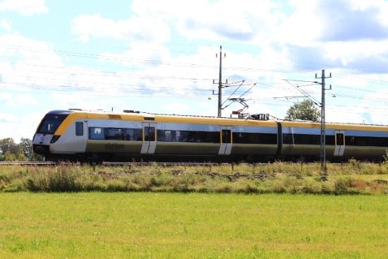 Tåg vid olycka utanför Skultorp