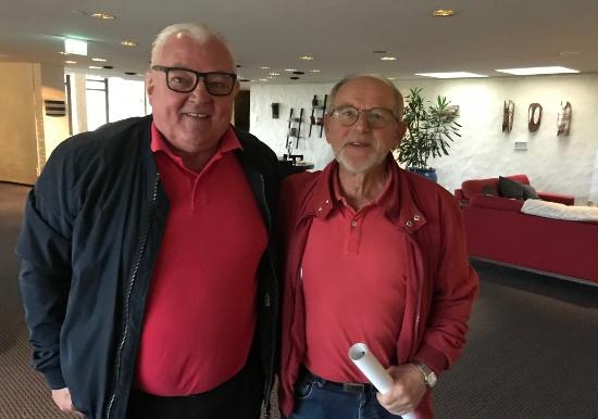 Jan Nissmo och Bengt Larsson. Två av spelarna i Skövde AIK:s kvallag 1970.