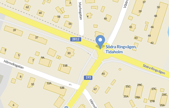 Södra Ringvägen, Tidaholm
