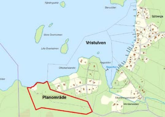 Karta över Vristulven
