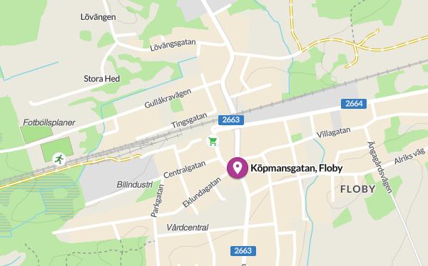 Karta över Floby