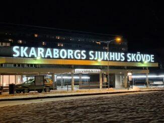 Skarborgs Sjukhus i Skövde, vintertid