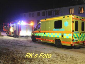 Larm om brand i lägenhet i Gullspång.