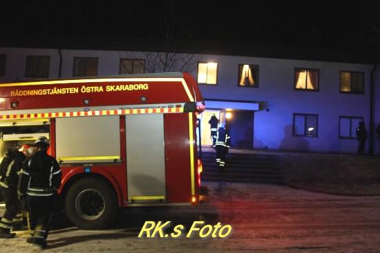 Räddningstjänst på plats i Gullspång.