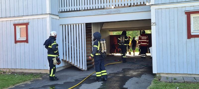 Brand på Norrmalm i Skövde