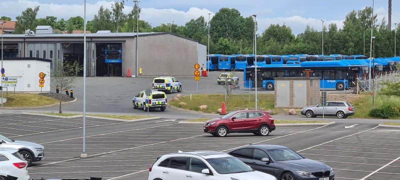Polisbilar på Mariesjö